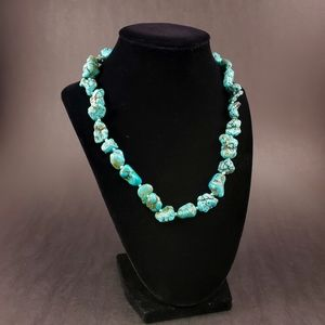GORGEOUS Chunky Turquoise Hand Knotted Necklace